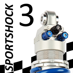 SportShock 3 shock absorber for Ducati - model 848 / 848 EVO - year 2008 - 2013 (Racing use)