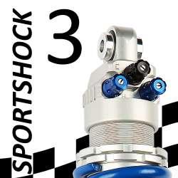SportShock 3 shock absorber for Kawasaki - model 600 ZX6-R - year 2009 - 2015 (Racing use)