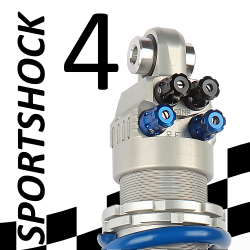 SportShock 4 shock absorber for Kawasaki - model 600 ZX6-R - year 2009 - 2015 (Competition use)