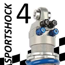 Amortisseur SportShock 4 pour Triumph - modèle 675 Street Triple - année 2007 - 2012 (utilisation compétition)