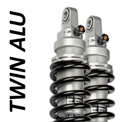 Twin Alu shock absorber for Harley Davidson 1584 TRIKE Road King Classic / EML (96.96 cubic inches) 2008