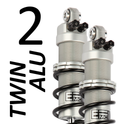 Twin Alu 2 (pair) shock absorber for Harley Davidson 1584 Electra Glide FLHT (96.96 cubic inches) 2007 - 2009