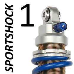 Amortisseur SportShock 1 (45) pour Aprilia - modèle 125 RS4 - année 2011 - 2017 (utilisation route)