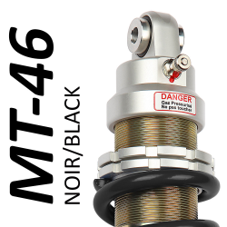 MT46 BLACK shock absorber for Kawasaki - model 600 ZZR - years 1990 - 2005 (Road / Trail use)