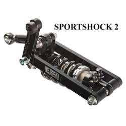 Sportshock 2 Full Black shock absorber for Buell 1200 Lightning X1 (Kit pour amortisseur d'origine entraxe 374mm)