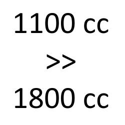 1100 cc > 1800 cc