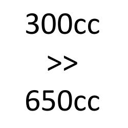 300 cc to 650 cc