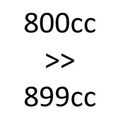 de 800 cc à 899 cc