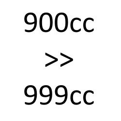 de 900 cc à 999 cc