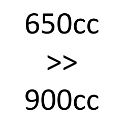 de 650 cc à 900 cc