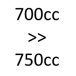 de 700 cc à 750 cc