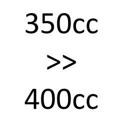 de 350cc à 400cc