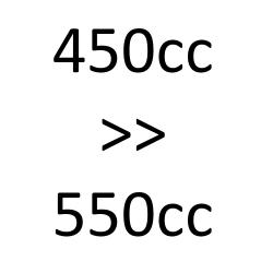 de 450cc à 550cc