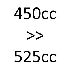 de 450cc à 525cc