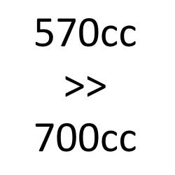de 570cc à 700cc