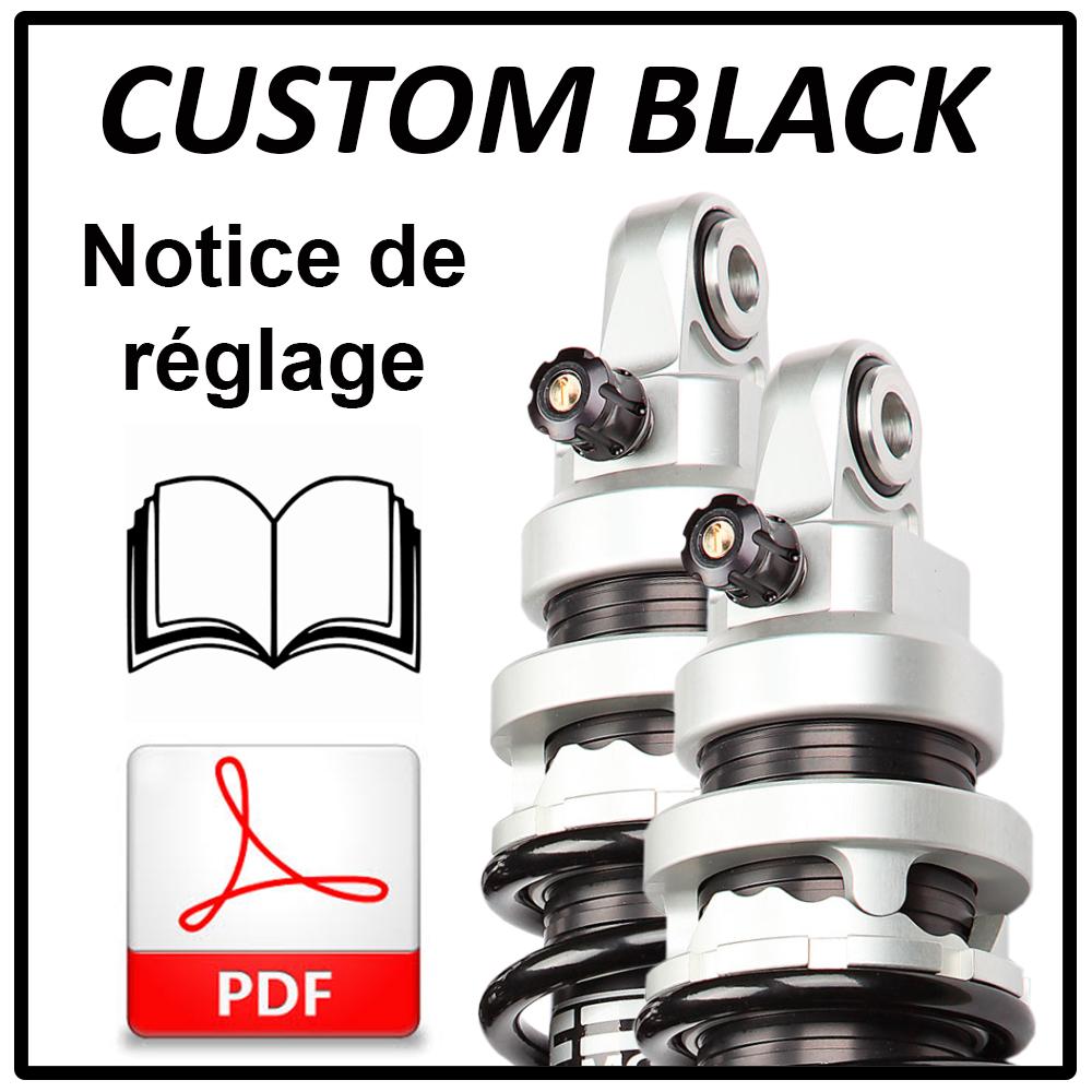 Adjustment and setting information for EMC shock absorber CUSTOM BLACK