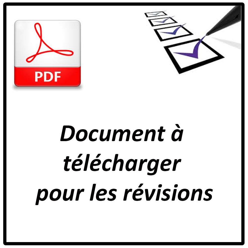 document pour révisions