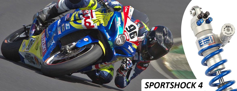 Amortisseur EMC Sportshock4 pour moto de vitesse, Honda, Kawasaki, Suzuki, Yamaha, BMW, Aprilia, Triumph etc...