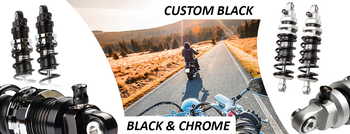 Black & chrome Custom Black